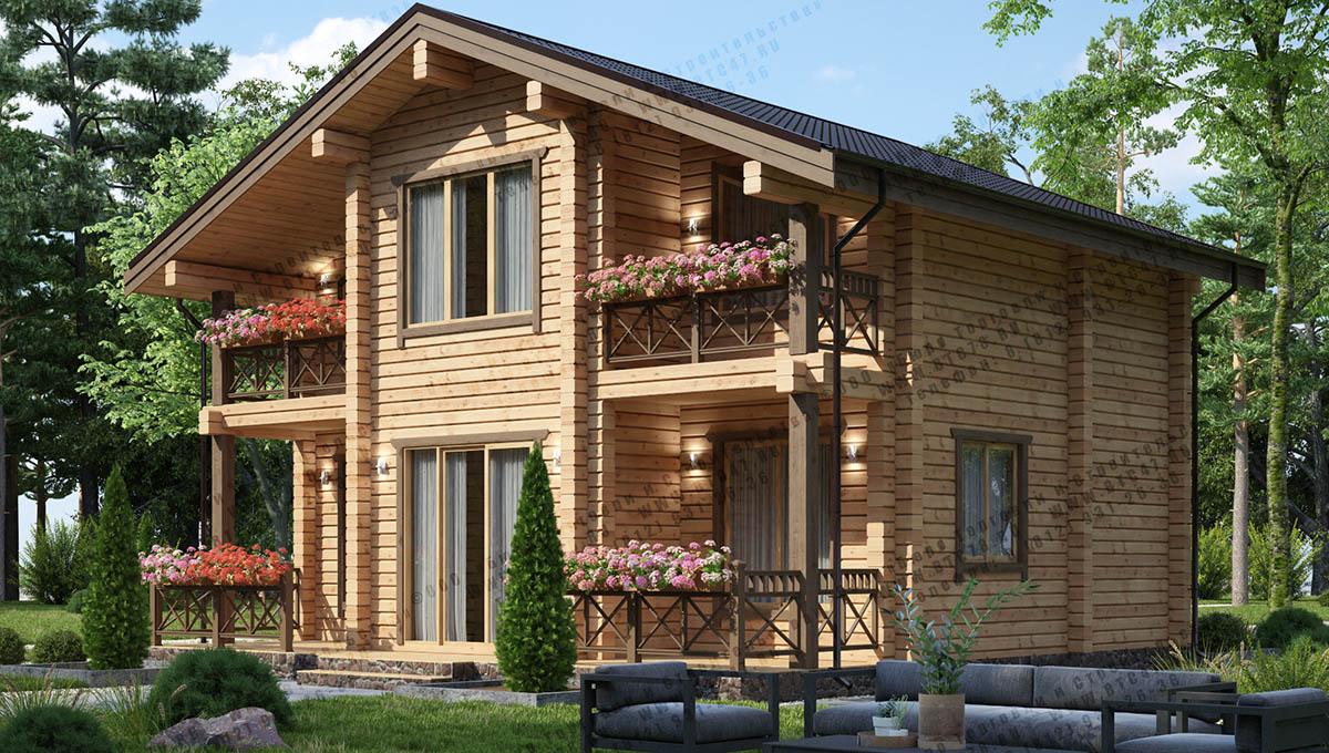 Уютный каркасный дом