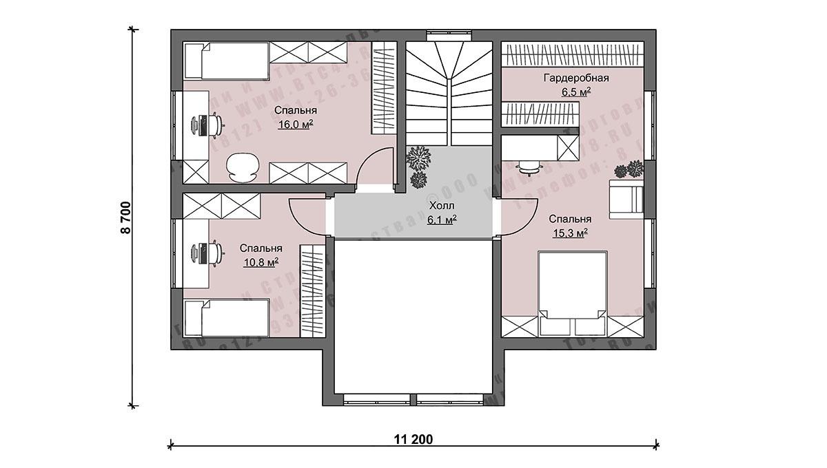 Каркасный дом со вторым светом